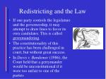redistricting and the law