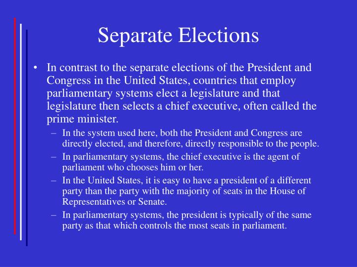 Separate Elections
