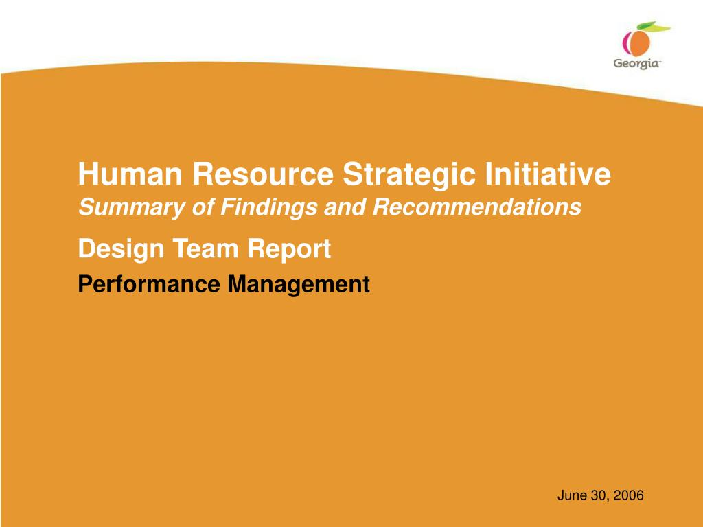 human resource strategic initiative summary of findings and recommendations l.