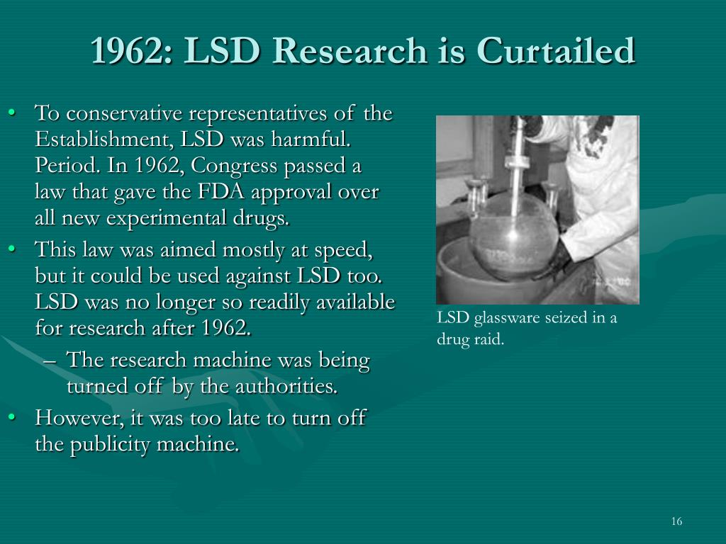 1962: LSD Research is Curtailed