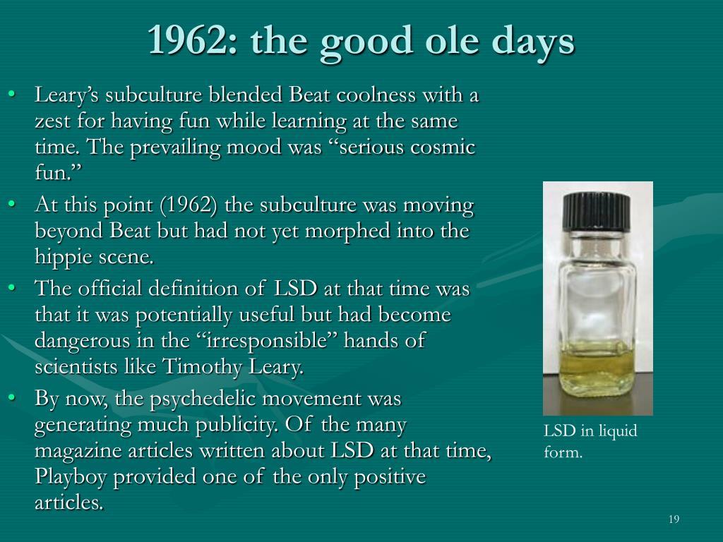 1962: the good ole days