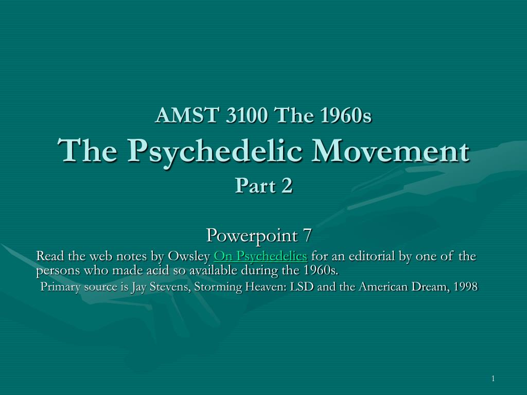 amst 3100 the 1960s the psychedelic movement part 2 l.