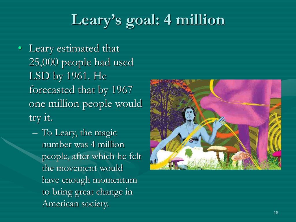 Leary's goal: 4 million