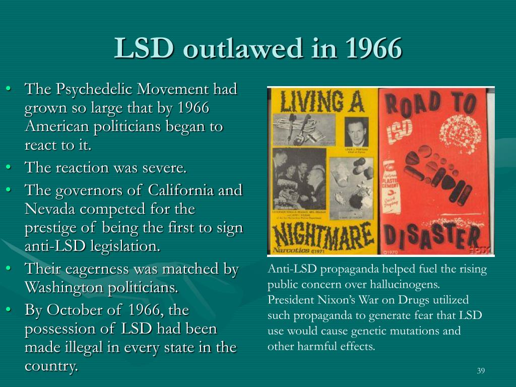 LSD outlawed in 1966
