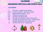 calendar religious festivals and events 201213