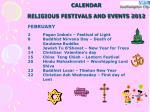 calendar religious festivals and events 20123