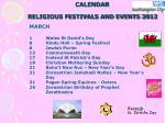 calendar religious festivals and events 20124