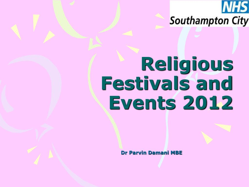 religious festivals and events 2012 l.