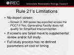 rule 21 s limitations