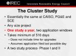 the cluster study