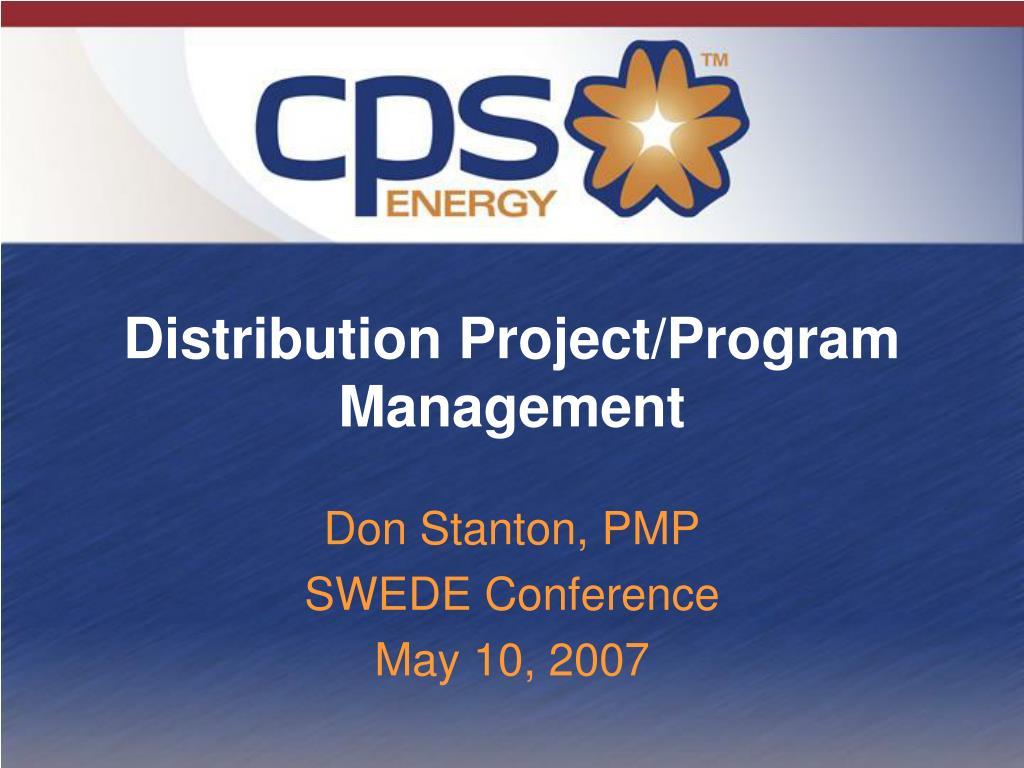 distribution project program management l.