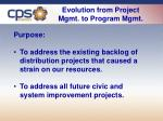 evolution from project mgmt to program mgmt
