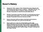 nucor s history