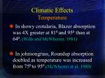 climatic effects temperature