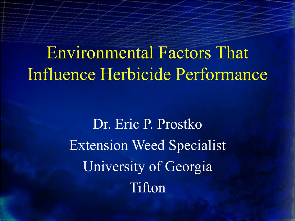 environmental factors that influence herbicide performance l.