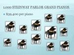 1 000 steinway parlor grand pianos