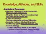 knowledge attitudes and skills