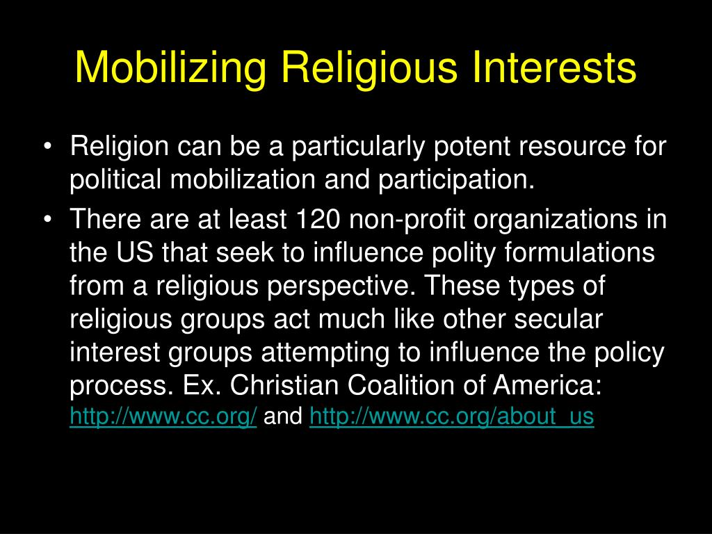 mobilizing religious interests l.