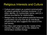 religious interests and culture