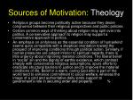 sources of motivation theology