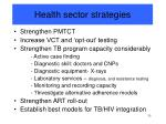 health sector strategies