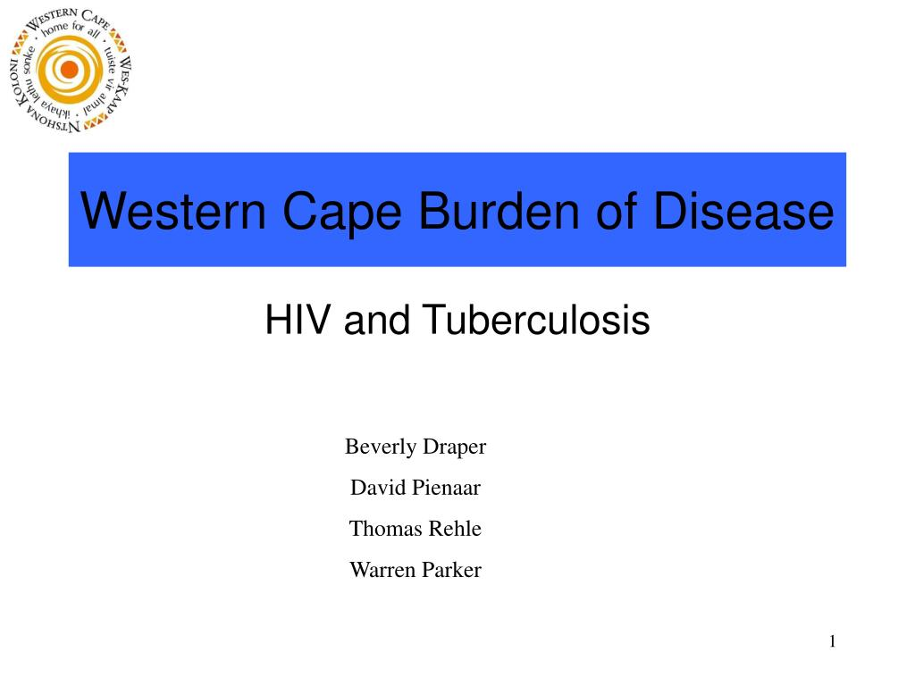 western cape burden of disease l.
