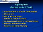 operations departments staff