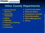 other county departments
