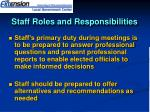 staff roles and responsibilities46