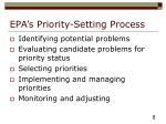 epa s priority setting process