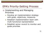 epa s priority setting process13