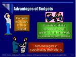 advantages of budgets4