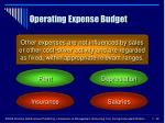operating expense budget22