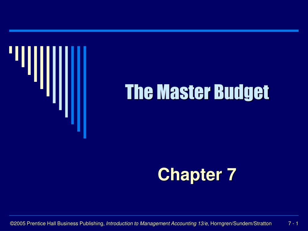 the master budget l.