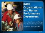 inpo organizational and human performance department