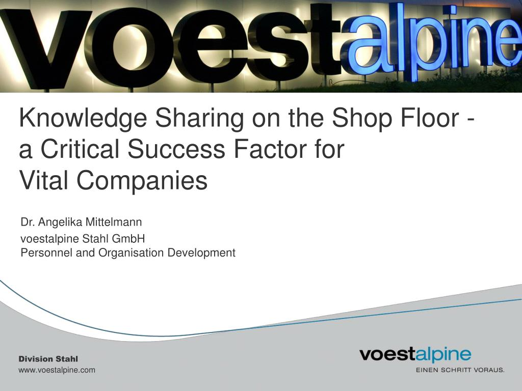 knowledge sharing on the shop floor a critical success factor for vital companies l.