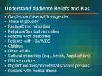 understand audience beliefs and bias