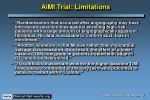 aimi trial limitations
