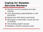 coping for disaster services workers47