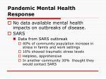 pandemic mental health response