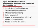 signs you may need stress management assistance as a disaster services worker49