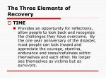 the three elements of recovery66