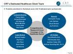 crt s dedicated healthcare client team