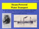 steam powered water transport