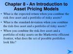 chapter 8 an introduction to asset pricing models3