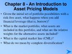 chapter 8 an introduction to asset pricing models4