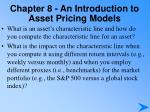 chapter 8 an introduction to asset pricing models7