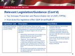 relevant legislation guidance cont d