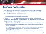 state local tax exemption