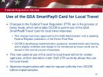 use of the gsa smartpay card for local travel